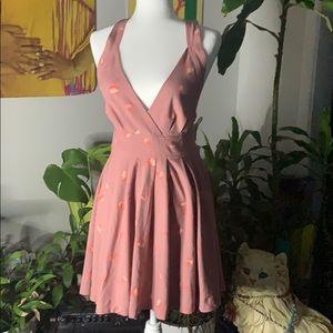꧁𝔽𝕣𝕖𝕖 ℙ𝕖𝕠𝕡𝕝𝕖꧂MauveFlower halter dress